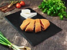 Ardei copt umplut cu brânză pane